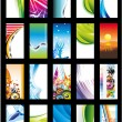 Abstract Background Card Collection - Set 2 — Stock Vector