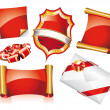 Set of Christmas Stickers or Icons — Stock Vector