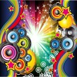 Stock Vector: Music Background for Disco Flyers