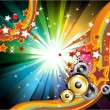 Music Background for Disco Flyers — Stock Vector #6946648