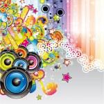 Fondo colorido de la música para volantes — Vector de stock