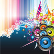 Music Colorful Background for Flyers — Imagen vectorial