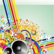 Abstract Colorful Music Background — Imagens vectoriais em stock