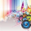 Abstract Colorful Music Background — Stock Vector