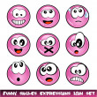 Funny Smiles Collection — Stock Vector