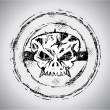 Grunge style Skull Stamp — Stock Vector #6947009