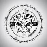 Grunge style Skull Stamp — Stock Vector