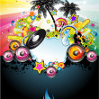 Stock Vector: Tropical Music Event Flyer