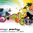 Colorful Discoteque Flyer — Stok Vektör #6948271