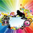 Vector de stock : Music Colorful Background for Flyers