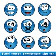 Funny Smiles Collection - Stock Vector