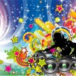 Royalty-Free Stock Imagem Vetorial: Colorful Discoteque Flyer