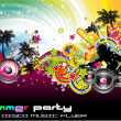 Colorful Discoteque Flyer — Stok Vektör #6949695