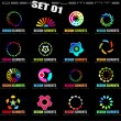 Abstract Design Elements - Set 1 on Black — 图库矢量图片
