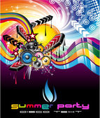 Colorful Discoteque Flyer — Stock Vector