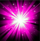 Purple magic lightsBackground — Stock Vector