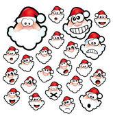 Santa Claus Expressions — Stock Vector