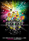 Music Background for Disco Flyers — Stock Vector