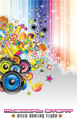 Music Colorful Background for Flyers — Stock Vector