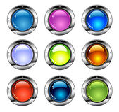 Shiny Colorful Buttons — Stock Vector