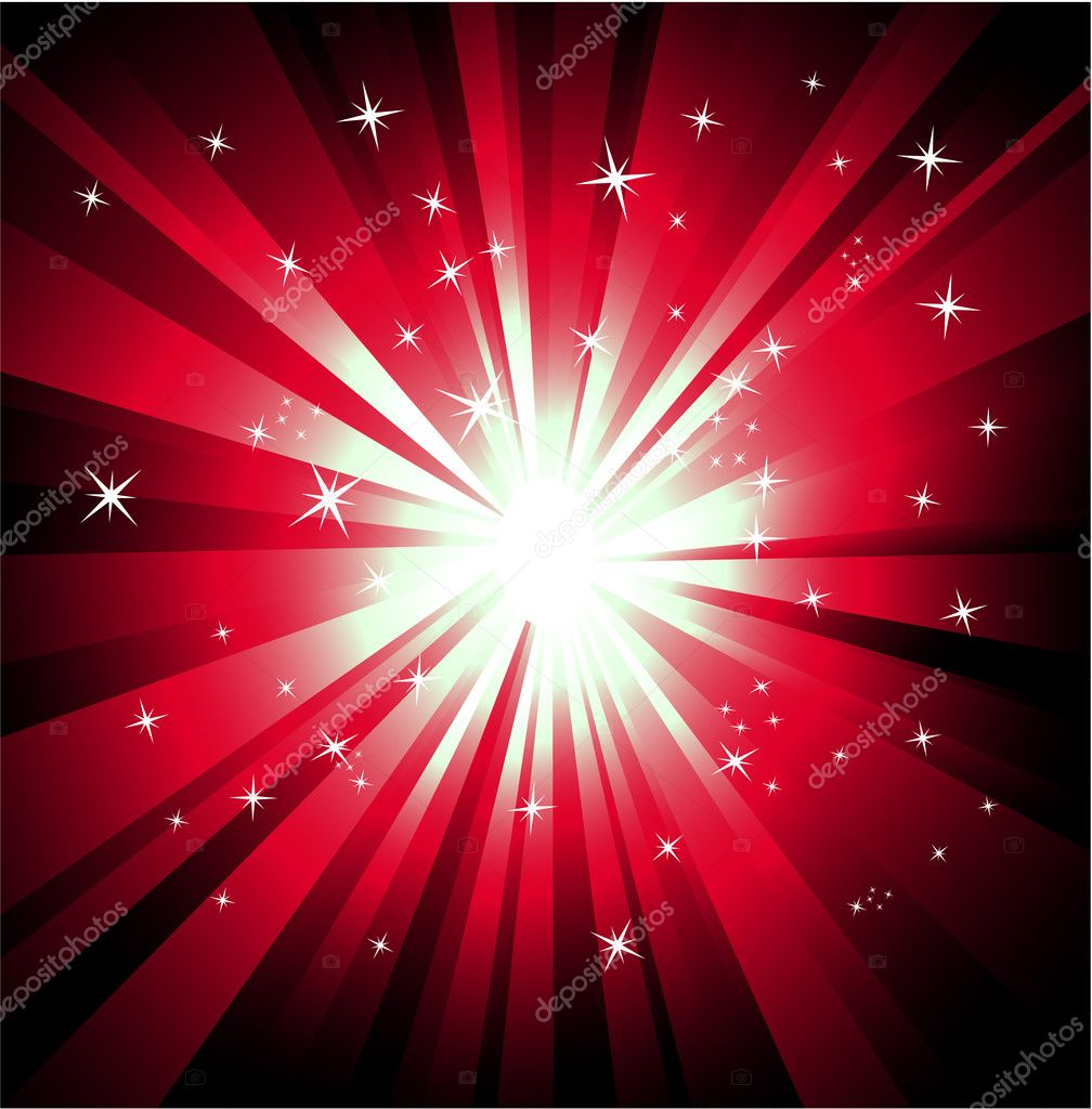 Magic Lights Explosion with a lot of colors and stars  Imagen vectorial #6946650