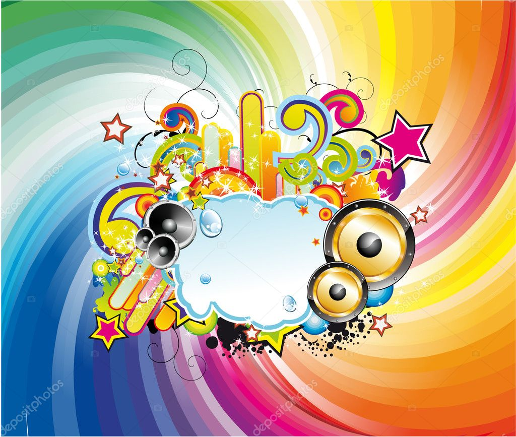Colorful Abstract Disco Dancing Background for Flyers — 图库矢量图片 #6946901