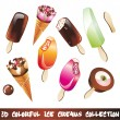 Stock Vector: Ice Creams Icon Set