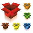 Three Dimensional Box with Shadow — Cтоковый вектор #6951138