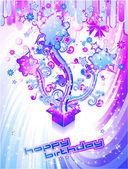 Festive Happy Birthday Background — Stock Vector