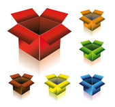 Three Dimensional Box with Shadow — Stock Vector