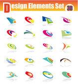 3D Design Elements Set — Stock Vector