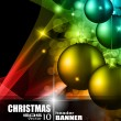 High tech rainbow Chrstmas background — Vector de stock