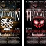 Halloween Horror Party Flyer — Stock Vector