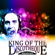 Vector de stock : King of the discotheque flyer