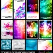 The art of business card Collection: play with rainbows. — Stock Vector #7300495