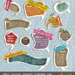Retro grunge speech bubbles - 