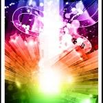 abstracte regenboog stroom van energie — Stockvector