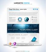 Origami Website - Elegant Design — Stock Vector