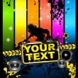 Royalty-Free Stock Vector Image: Discotheque flyer tor music event