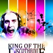 King of the discotheque flyer — Vector de stock #7370942