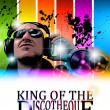 King of the discotheque flyer — Vector de stock #7370986