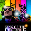 King of the discotheque flyer — Vector de stock #7491620