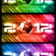 High Tech New Year Banners — Stock Vector
