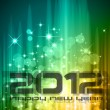 2012 New Year celebration background — Stock Vector #7597912