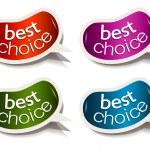 Beans bubble speech with Best Choice motive — Stock Vector