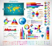 Premie infographics master collectie: — Stockvector