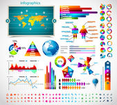 Premie infographics master collectie: — Stockvector