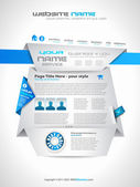 Complex Origami Website - Elegant Design — Stock Vector