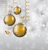 经典圣诞问候背景 — 图库矢量图片