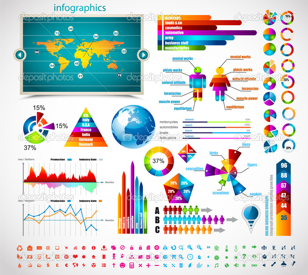 Premium infographics master collection: — Stock Vector ...